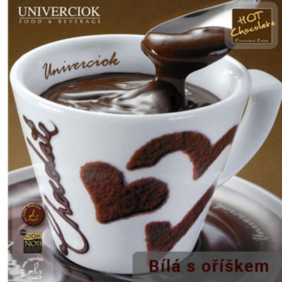 Horká čokoláda Univerciok bílá s oříškem od Sweetcoffee